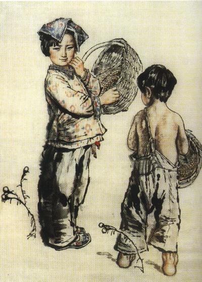 03 刘文西国画人物赏析