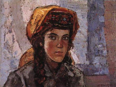 塔吉克族女学生 1978年