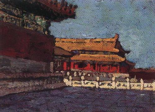 故宫建筑绘画作品