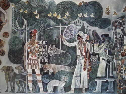 猎人与动物全景