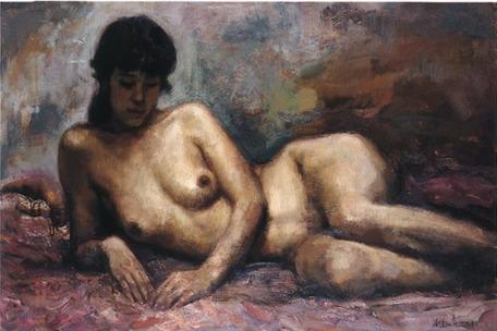 横卧的女裸