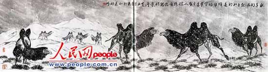 祁峰国画作品欣赏