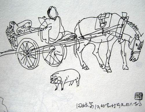 速写及连环画插图(2)_乐乐简笔画