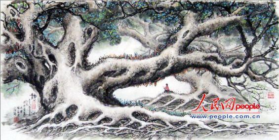 榕树工笔图片大全