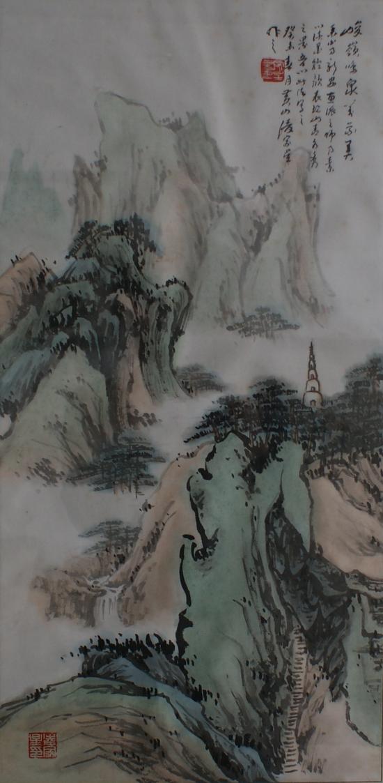 转载《凌家星山水画》图片