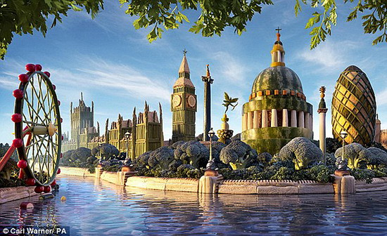 """除此之外,伦敦的风景名胜都被""""改头换面""""."""